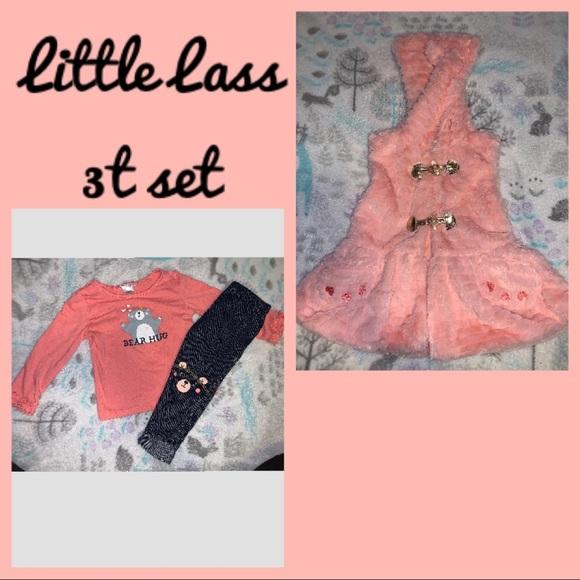 Little Lass 3t bear 3 piece set